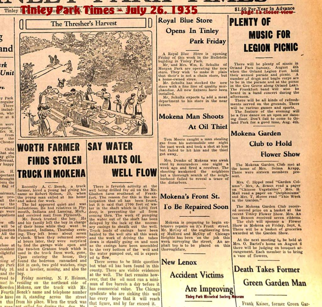 The-Tinley-Park-Times-newspaper-July-26-1935