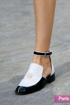 Chanel Ankle Strap Loafer