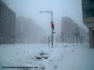 Looking north towards Dupont Circle, DC, February 2010
