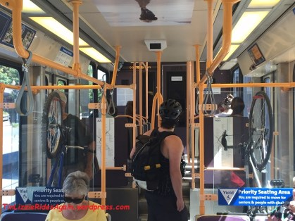 Bikes on the streetcar