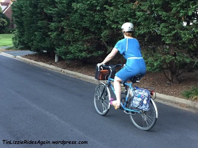 McCalls Dress biking back