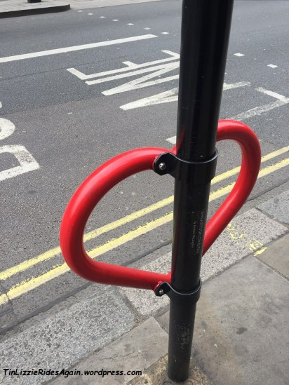 Heart shaped bike racks! Not 100% sure if they are meant to be for bikes, but saw bikes locked up to them.