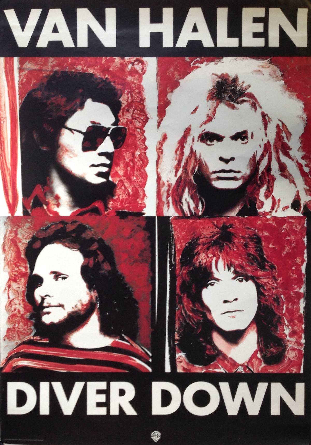 Van Halen Diver Down 1982 Promo Poster Tinnitist