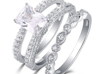 5403ac12f16eb5 Sapphire Wedding Rings Sets | Unique Wedding Ring Sets His And Hers ...