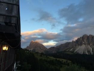 MTB-Trip Dolomiten / abendliche Aussicht