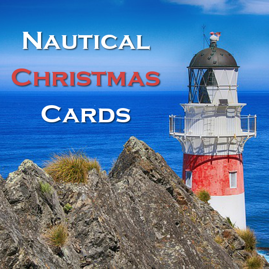 Nautical Themed Christmas Cards Boxed Photo And Personalized