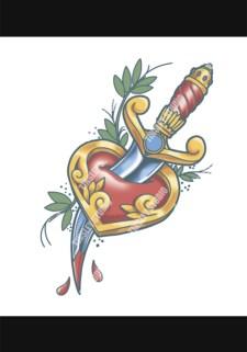 heart and dagger tattoo