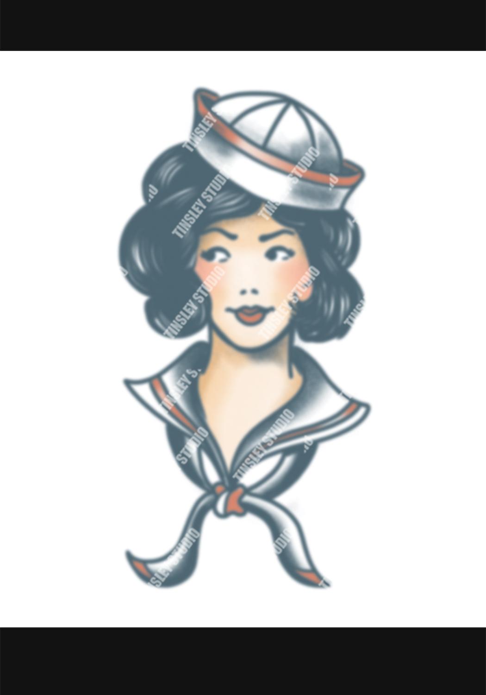 pinup sailor tattoo