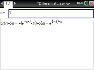 Laplace transform of the dirac delta function using the tinspire next enter the c value and view the laplace transform below the entry box urtaz Images