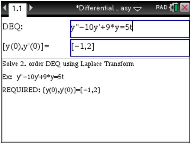 differential equation  wwwTiNspireAppscom  Blog