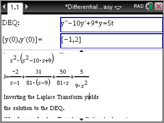 differential equation  wwwTiNspireAppscom  Blog
