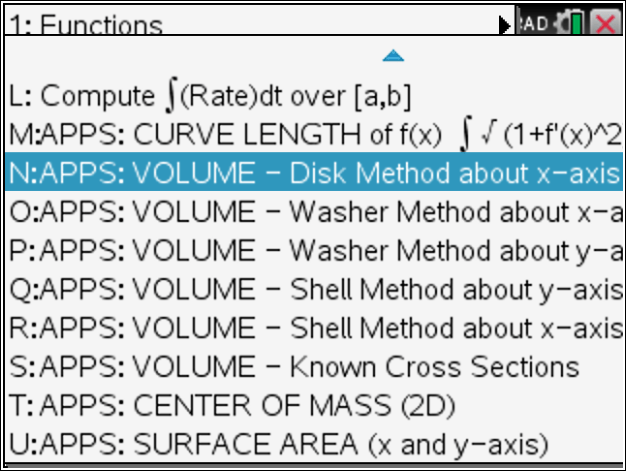 Tinspire Volume Of Solids Of Revolution Using Disk Washer And Shell Methods Www Tinspireapps Com Blog