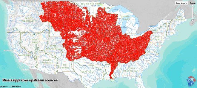 Mississippi river upstream sources