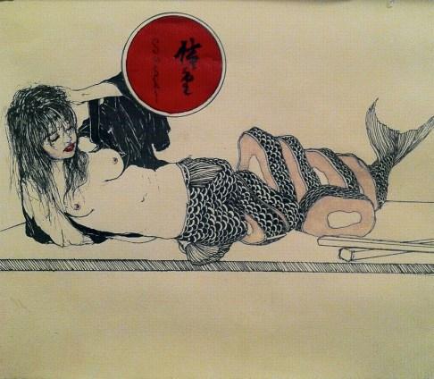 mujer sushi, mujer cortada con sushi, autoexigencia, escritores y la autoexigencia