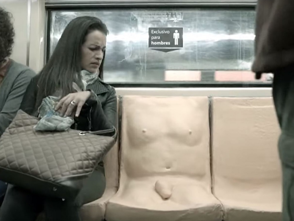 Penis Seat on the Mexican Metro!