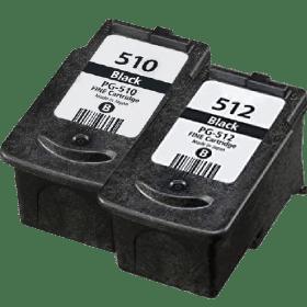 tinteiro vazio Canon PG 510 Reciclado PG 512 Reciclado 1