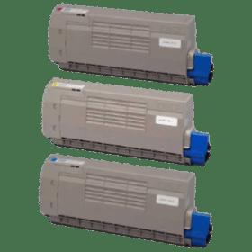 toner vazio OKI C710 C711 CMY