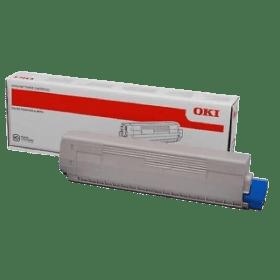 toner vazio OKI C831 C841 C822 Preto
