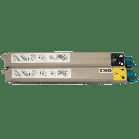 toner vazio OKI C9600 C9650 C9800 BCMY