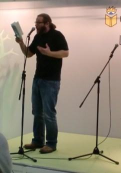 Poetry Slammer Christian Bartel hatte die Lacher auf seiner Seite