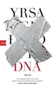 Cover DNA Yrsa Sigurdardottir