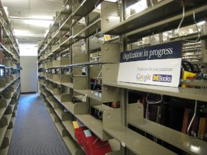 Empty stacks in Hatcher Graduate Library (University of Michigan Library)