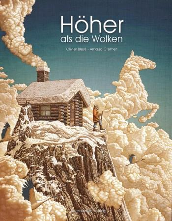 """Zwei Jahre benötigte der Illustrator wegen der ungewöhnlichen Techniken für die Arbeit an """"Höher als die Wolken"""". Die Geschichte ist nicht weniger anspruchsvoll: Ein alter Mann lebt alleine auf einem Gipfel. Vergraben in den Wolken, kennt er nur seine Einsamkeit."""