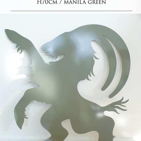 Hälsingebocken siluett fasaddekor manila green