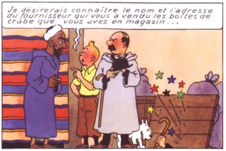 """AMUSANT : LA TECHNIQUE DU """"DOIGT POINTÉ"""" CHEZ HERGÉ"""