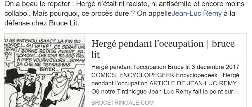 HERGÉ PENDANT L'OCCUPATION...
