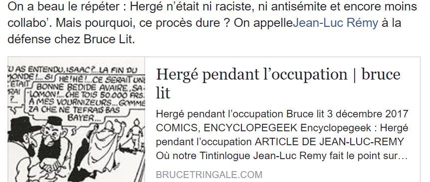 HERGÉ PENDANT L'OCCUPATION...