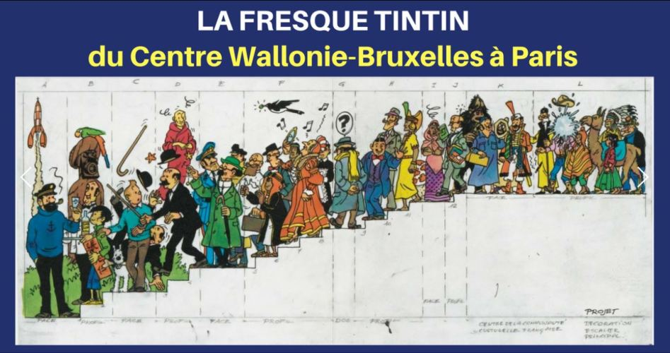 AU CŒUR DE PARIS : LA FRESQUE TINTIN (1979)