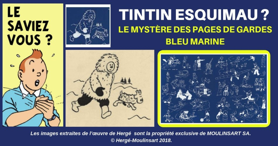 TINTIN DANS LE GRAND NORD : UNE ILLUSTRATION QUI POSE QUESTION