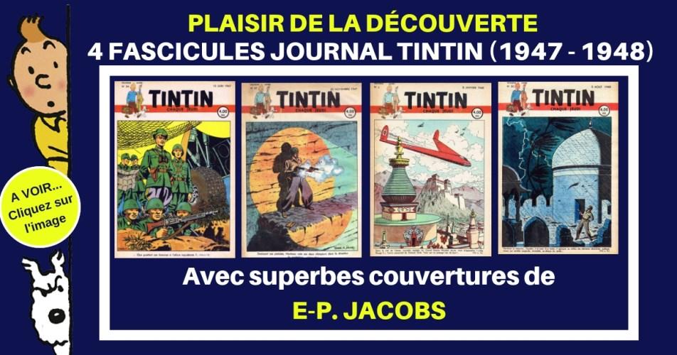 POUR LE PLAISIR - JOURNAL TINTIN 4 FASCICULES COUVERTURE JACOBS  !