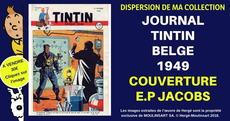 JOURNAL TINTIN COUVERTURE E.P. JACOBS (1949)