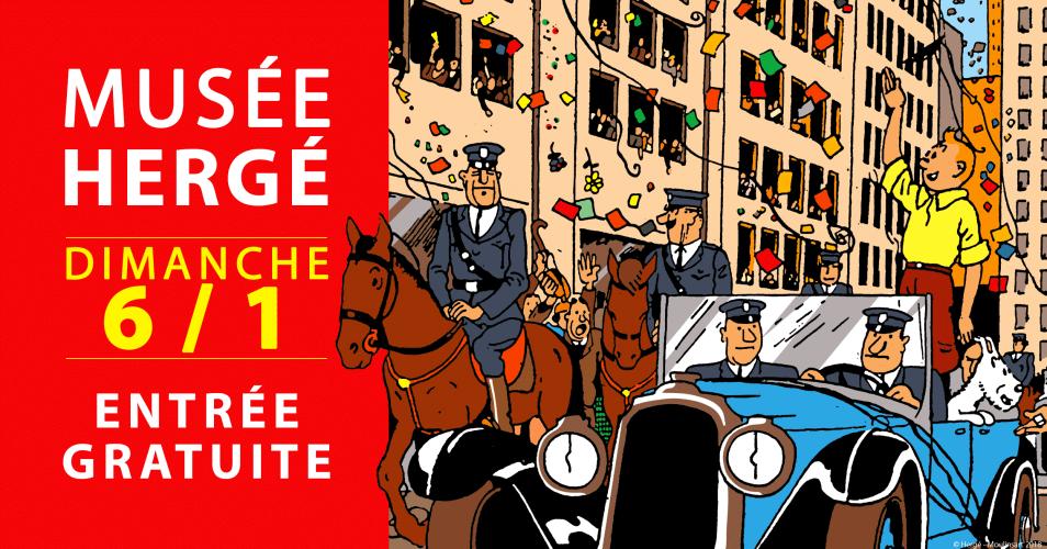 MUSÉE HERGÉ : ENTRÉE GRATUITE POUR TOUT LE MONDE