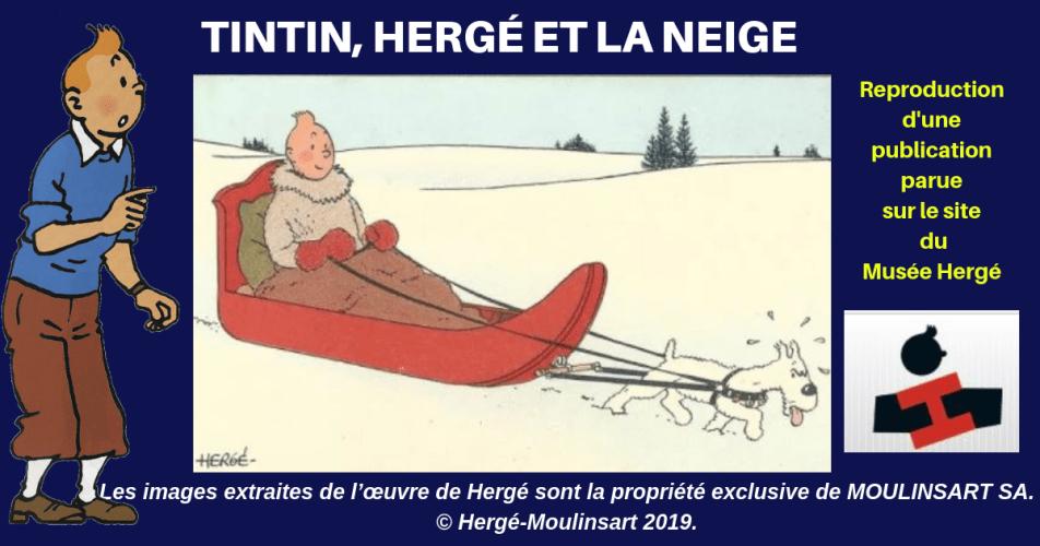 HERGÉ, TINTIN, ET LES PLAISIRS DE L'HIVER