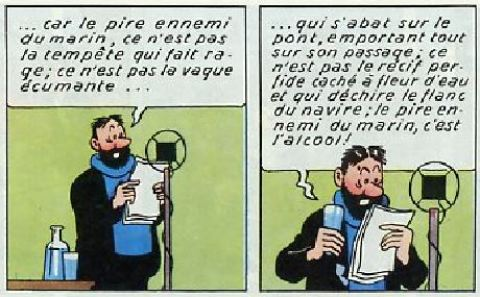 Tintin Le Capitaine Haddock Et Ses Bateaux Tintinomania