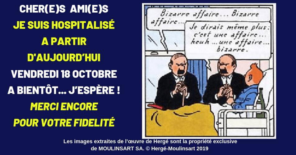 PROBLÈMES DE SANTÉ : INTERRUPTION MOMENTANÉE