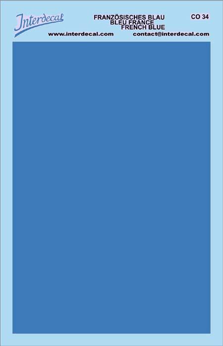 planches de couleur unie 95 x140 mm bleu france