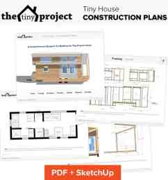 tiny project tiny house construction plans [ 1014 x 1014 Pixel ]
