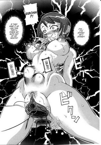 Big-boobed anime cockslut getting plastered with jizz