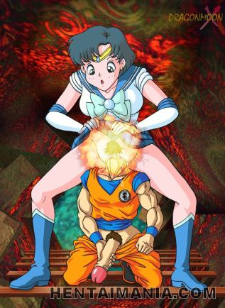 Blue haired anime porno tramp in XXL shoes railing a giant manhood