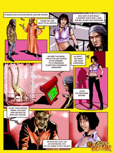 Nasty black-haired comics tramp taking two hefty jizz-shotguns