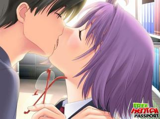 Purple haired manga pornography stunner with XXL jugs gets smallish cunt doggied