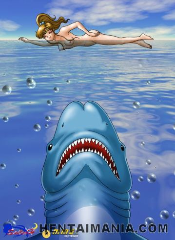 Blue spotted hentai siren frigging her hairless cooch for you