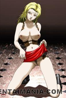 Handsome blondie manga porno woman showcasing her lil' fuckbox
