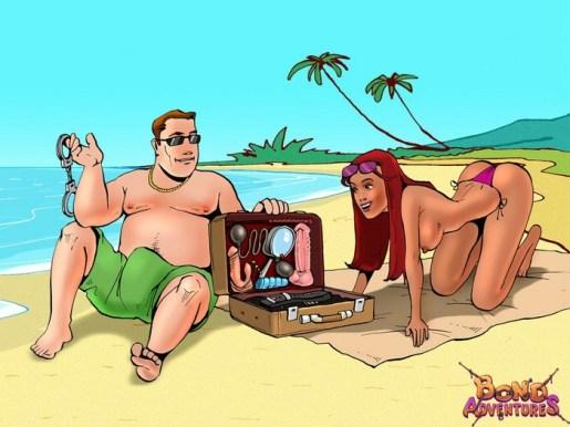 BONDAGE & DISCIPLINE hookup adventure at the beach