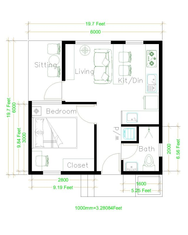 Small House Plans 6x6 With One Bedroom Hip Roof Tiny House Plans,Teal And Brown Color Combinations