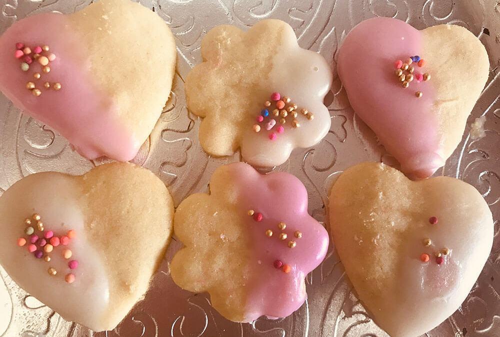 Egg-free dipped sugar cookies